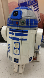 "Most impressed with this LEGO R2-D2 controlled by remote, complete with the ""beeps""."